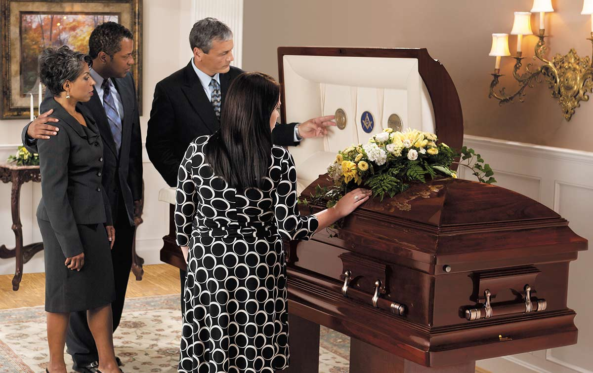 People with Casket