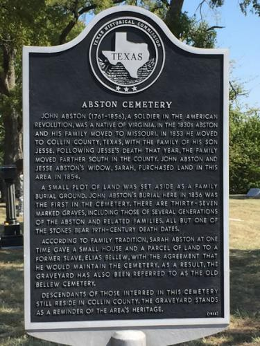 Texas Marker Abston Cemetery
